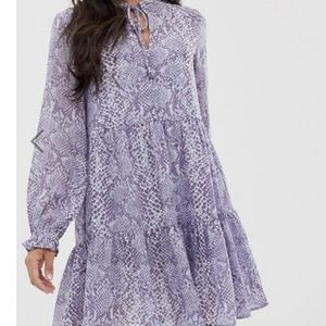 purple smock dress
